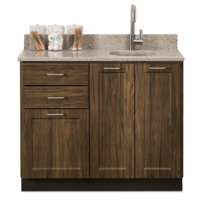 """Fashion Finish 42"""" Base Cabinet with 3 Doors and 2 Drawers"""