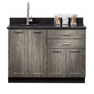 "Fashion Finish 48"" Base Cabinet with 4 Doors and 2 Drawers"