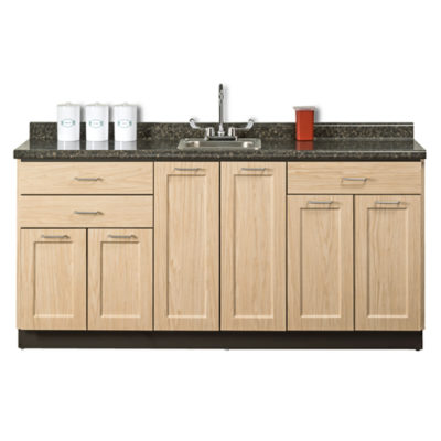 """Fashion Finish 72"""" Base Cabinet with 6 Doors and 3 Drawers"""