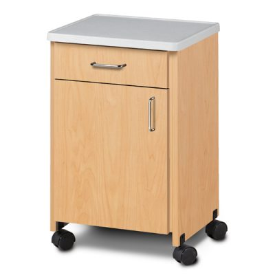 Mobile, Molded Top Bedside Cabinet