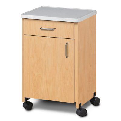Mobile, Molded Top Bedside Cabinet
