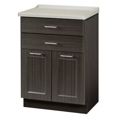 Fashion Finish, Molded Top Treatment Cabinet with 2 Doors and 2 Drawers