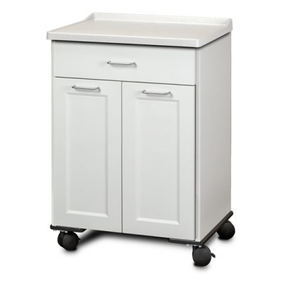 Fashion Finish Mobile Treatment Cabinet with 2 Doors and 1 Drawer