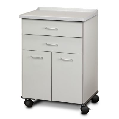 Molded Top, Mobile Treatment Cabinet with 2 Doors and 2 Drawers