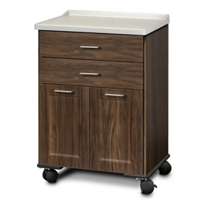 Fashion Finish, Molded Top, Mobile Treatment Cabinet with 2 Doors and 2 Drawers