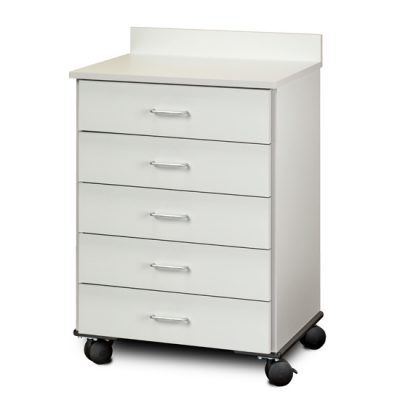 Mobile Treatment Cabinet with 5 Drawers