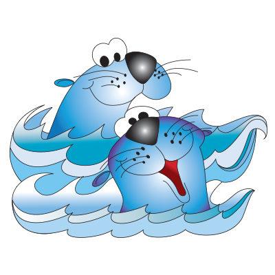 Smiling Seals Graphic