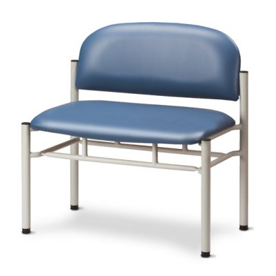 Extra-Wide Gray Frame Chair without Arms