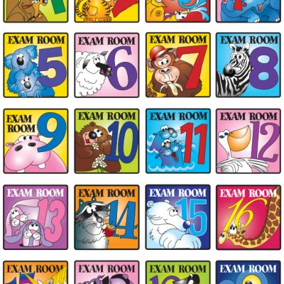 Pediatric Exam Room Sign Set 1 through 20