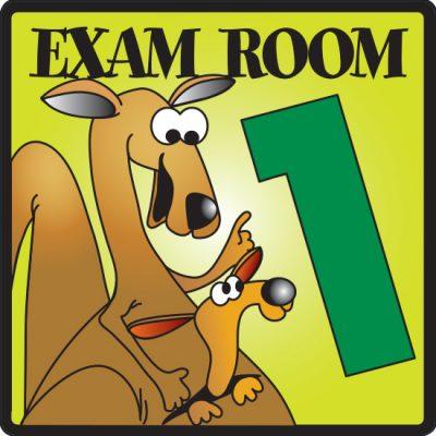 Exam Room 1 Sign