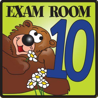Exam Room 10 Sign