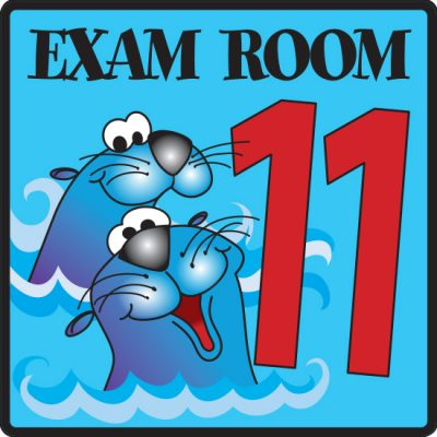 Exam Room 11 Sign