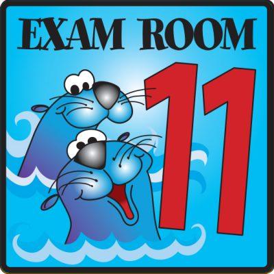 Exam Room 11 Sign