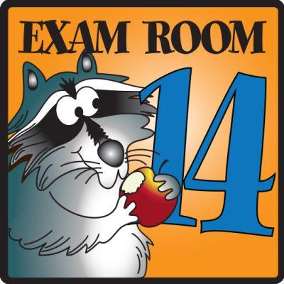 Exam Room 14 Sign