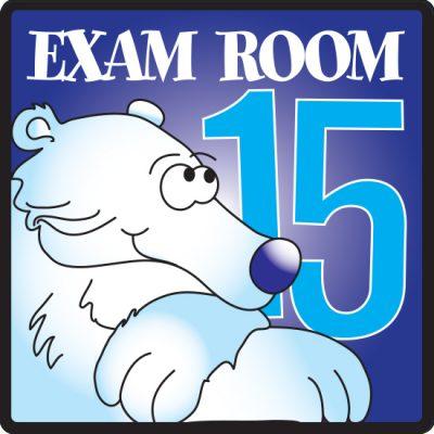 Exam Room 15 Sign