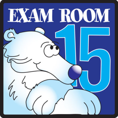Exam Room 15 Sign