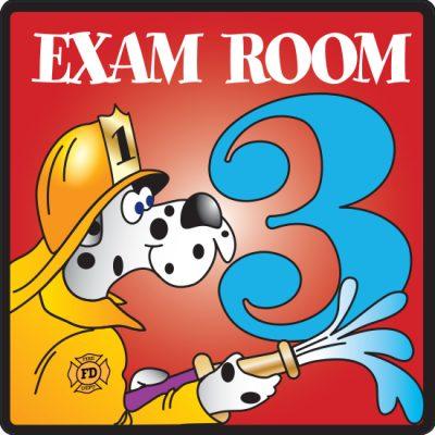 Exam Room 3 Sign