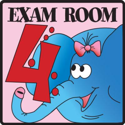 Exam Room 4 Sign