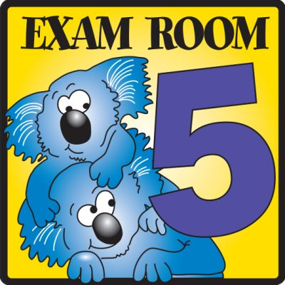 Exam Room 5 Sign