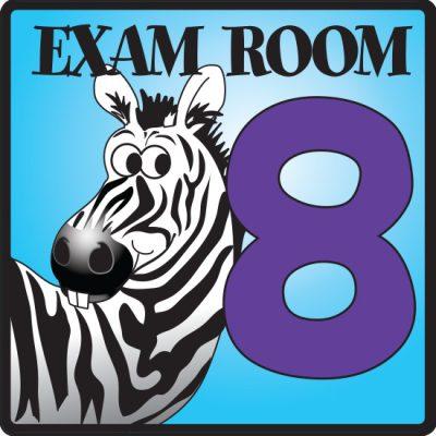 Exam Room 8 Sign
