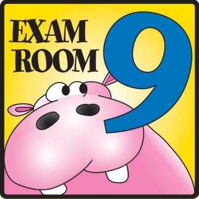 Exam Room 9 Sign