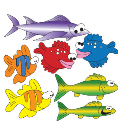 School of Fish (Right Facing) Wall Stickers