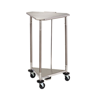 18 in. Stainless Steel Triangular Hamper with Lid