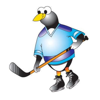 Hockey Penguin Graphic