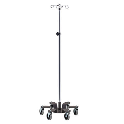 Six-Leg, 4-Hook, Heavy Base Infusion Pump Stand