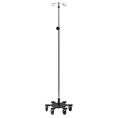Six-Leg, Space Saver, Heavy Duty, 2-Hook Infusion Pump Stand