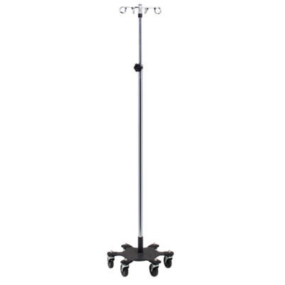 Six-Leg, Space Saver, Heavy Duty, 4-Hook Infusion Pump Stand