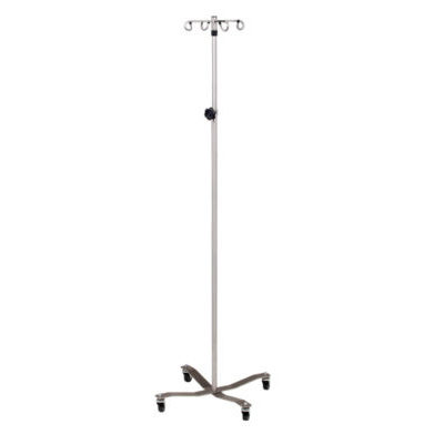 Stainless Steel* IV Pole with 4-Hook Top
