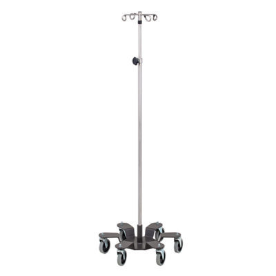 *Six-Leg, 4-Hook Stainless Steel Infusion Pump Stand