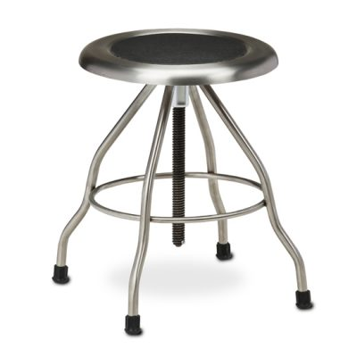 *Stainless Steel Stool with Rubber Feet