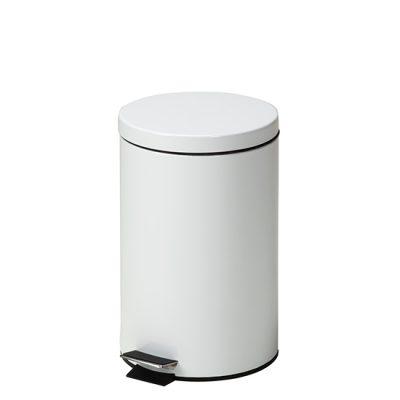 Small Round White Waste Receptacle