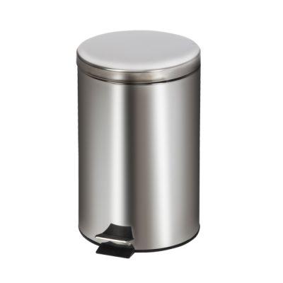 Medium Round Stainless Steel* Waste Receptacle