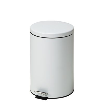 Medium Round White Waste Receptacle