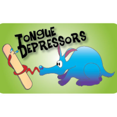 Tongue Depressors Label