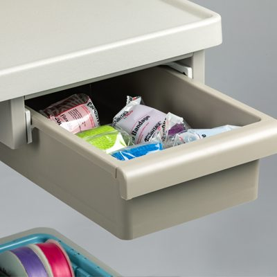 Under top drawer