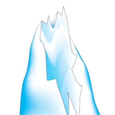 Ice Mountain 2 Wall Sticker