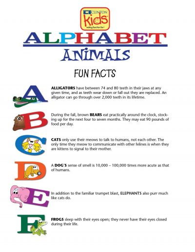 Alphabet Animals Fun Facts