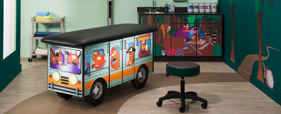 Cool Camper Treatment Table & Cabinets
