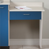 076 -P Wall Mount ClintonClean™ Desk with 1 Leg & 1 Drawer.