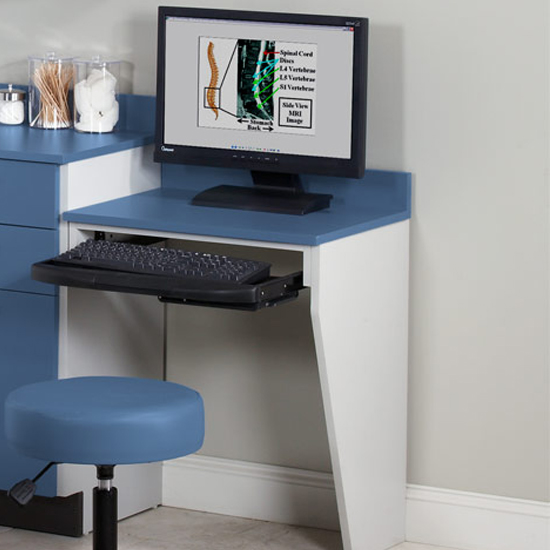 Computer Station Wall Mount Desk With 1 Leg1 Quick