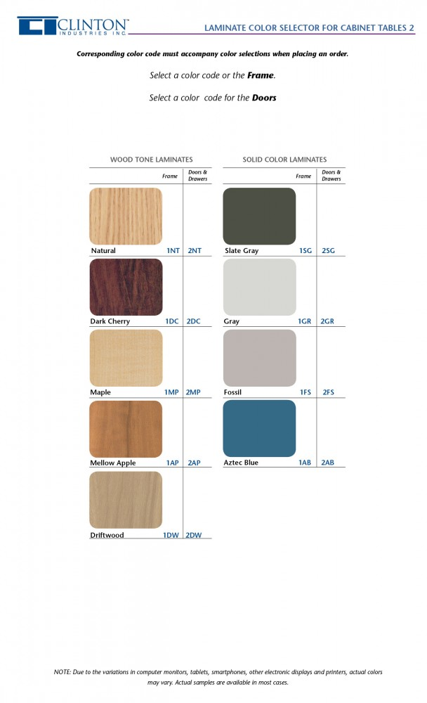 Cabinet Style Laminate Treatment Table4 Style Line
