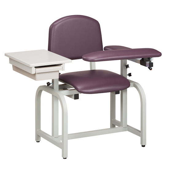 Lab X Series Standard Blood Drawing Chair With Padded Flip