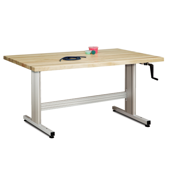 Group Therapy Table With Hand Crank Height Adjustment1