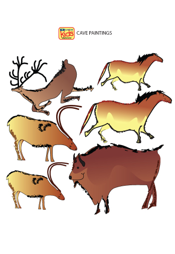 Cave  Painting  Stickers