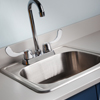 022 Stainless Steel Sink and Gooseneck Faucet with Wing Levers