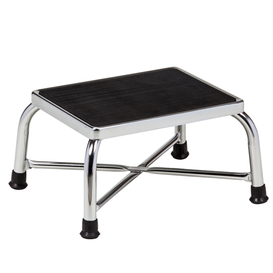 Chrome Bariatric Step Stool  sc 1 st  Clinton Industries & Chrome Two-Step Step Stool with Handrail | Training Room ... islam-shia.org